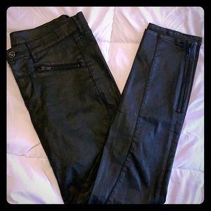 Madewell Leather Coated Denim